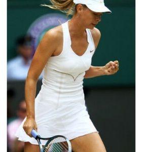 Nike Maria Sharapova White Corset Tennis Dress XL